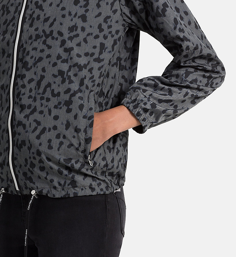 CALVIN KLEIN JEANS Printed Jacket Pac-a-Mac - WILD METAL AOP - CALVIN KLEIN JEANS OUTERWEAR - detail image 3