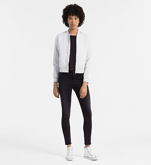 Material Mix Top - CK BLACK / BRIGHT WHITE - CK JEANS  - detail image 1