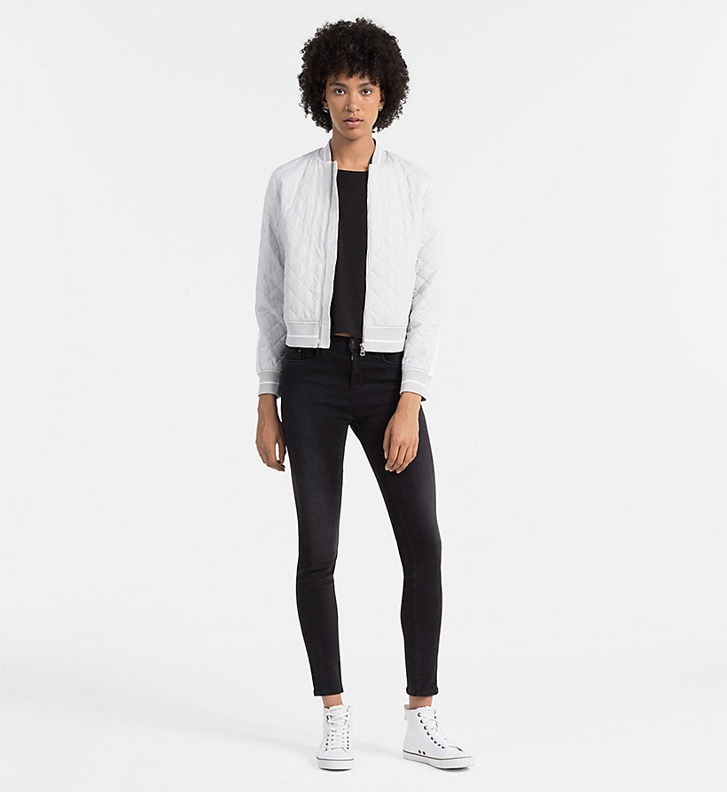 CALVIN KLEIN JEANS Material Mix Top - CK BLACK / BRIGHT WHITE - CALVIN KLEIN JEANS SHIRTS - detail image 1