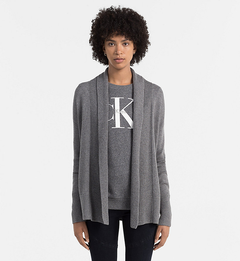 CKJEANS Wool Blend Cardigan - MID GREY HEATHER - CK JEANS JUMPERS - main image