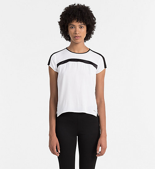 CKJEANS Satin Top - BRIGHT WHITE / CK BLACK - CK JEANS  - main image