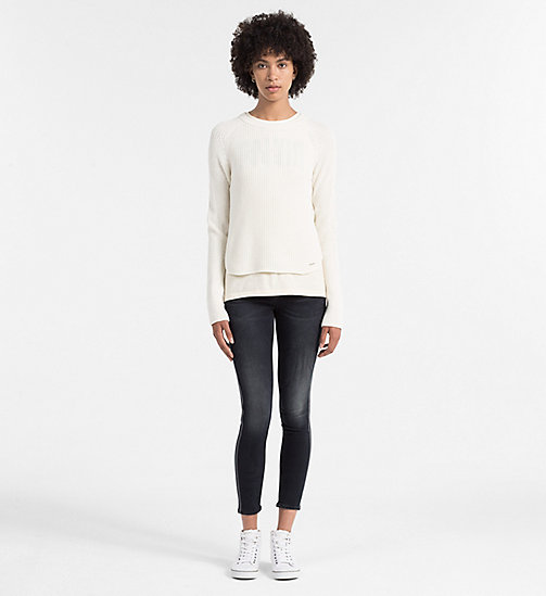 CKCOLLECTION Wool Blend Sweater - BRIGHT WHITE - CK JEANS  - detail image 1