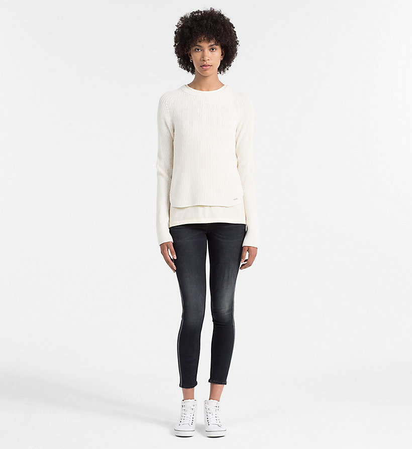 CALVIN KLEIN JEANS Wool Blend Sweater - BRIGHT WHITE - CALVIN KLEIN JEANS JUMPERS - detail image 1