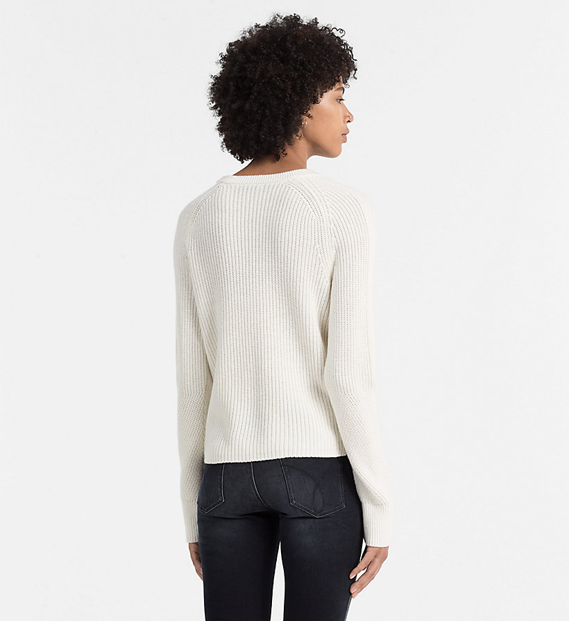CALVIN KLEIN JEANS Wool Blend Sweater - BRIGHT WHITE - CALVIN KLEIN JEANS JUMPERS - detail image 2