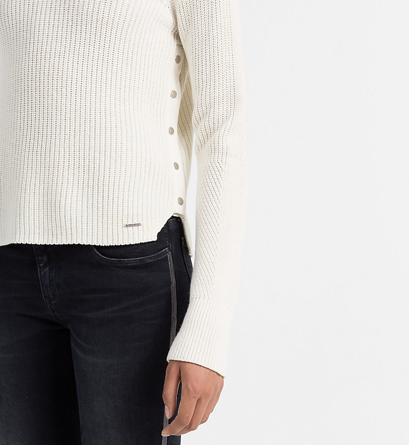 CALVIN KLEIN JEANS Wool Blend Sweater - BRIGHT WHITE - CALVIN KLEIN JEANS JUMPERS - detail image 3