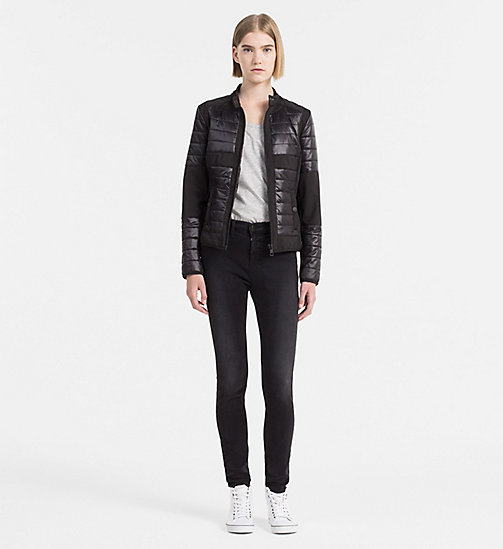 CALVIN KLEIN JEANS Padded Biker Jacket - CK BLACK - CALVIN KLEIN JEANS ACTION-PACKED - detail image 1