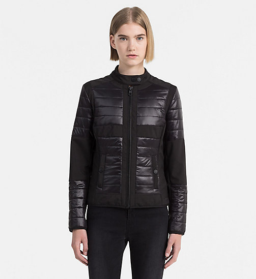 CALVIN KLEIN JEANS Padded Biker Jacket - CK BLACK - CALVIN KLEIN JEANS ACTION-PACKED - main image