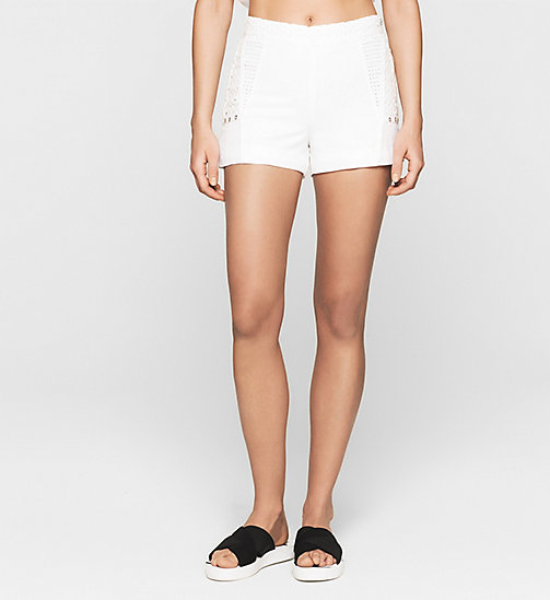 CKJEANS Broderie Shorts - BRIGHT WHITE - CK JEANS SUMMER SHOP FOR HER - main image