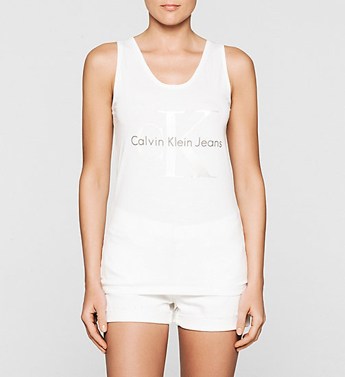 Logo Tank Top - BRIGHT WHITE - CK JEANS  - main image