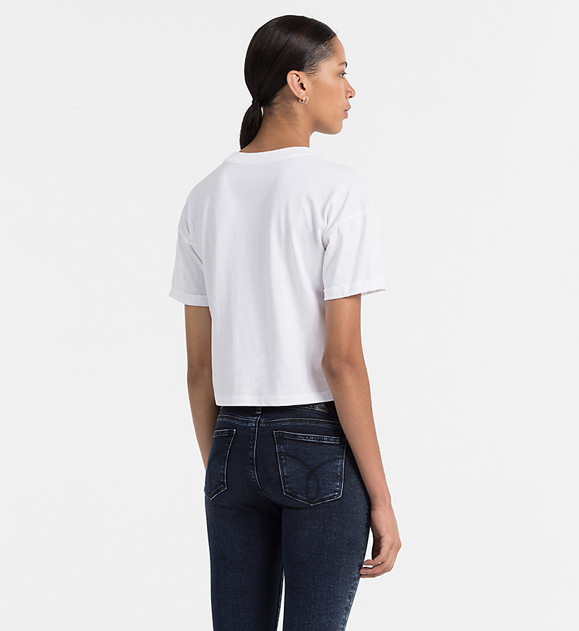 CALVIN KLEIN JEANS Cropped Logo T-shirt - BRIGHT WHITE - CALVIN KLEIN JEANS T-SHIRTS - detail image 2