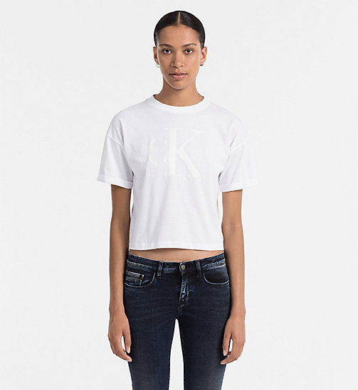 CKJEANS Cropped Logo T-shirt - BRIGHT WHITE - CK JEANS  - main image