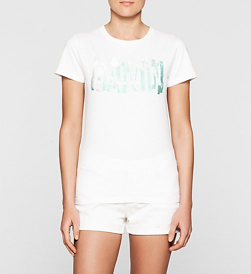 Embroidered Logo T-shirt - BRIGHT WHITE - CK JEANS  - main image