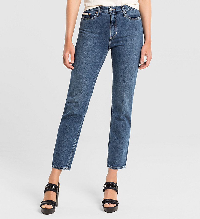 CKJEANS High Rise Straight Ankle Jeans - VINTAGE MID - CK JEANS JEANS - main image