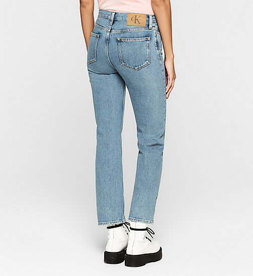 High Rise Straight Ankle Jeans - VINTAGE LIGHT - CK JEANS  - detail image 1