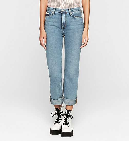 CKJEANS High Rise Straight Ankle Jeans - VINTAGE LIGHT - CK JEANS DENIM REFRESH - main image