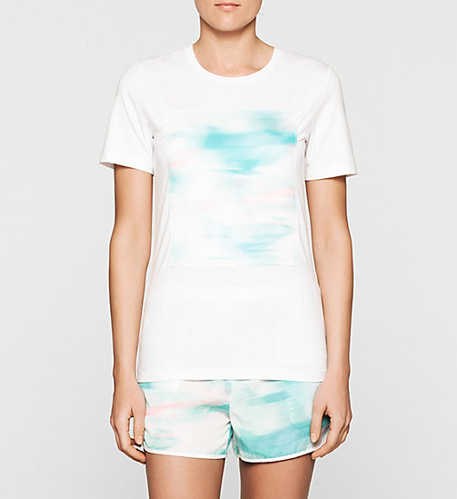 Satin Panelled T-shirt - BRIGHT WHITE - CK JEANS T-SHIRTS - main image
