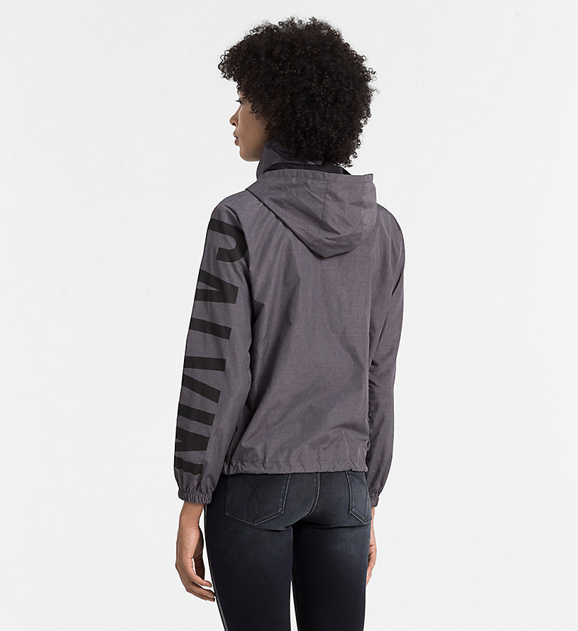 CKJEANS Pac-a-Mac-Logojacke - MID GREY HEATHER - CK JEANS JACKEN & MÄNTEL - main image 2