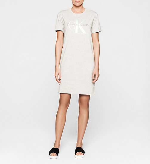 CKJEANS Logo T-shirt Dress - LIGHT GREY HEATHER - CK JEANS DRESSES - main image