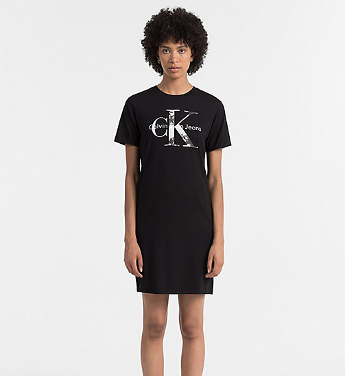 CKJEANS Logo T-shirt Dress - CK BLACK - CK JEANS DRESSES - main image