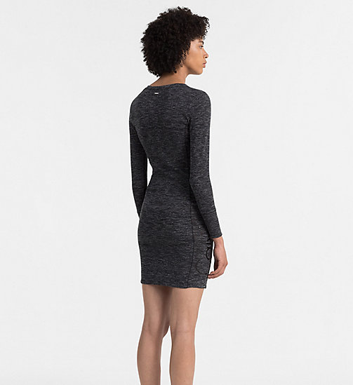 CALVIN KLEIN JEANS Melange Jersey Dress - BLACK HEATHER - CALVIN KLEIN JEANS ACTION-PACKED - detail image 1