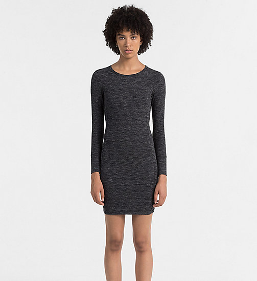 CALVIN KLEIN JEANS Melange Jersey Dress - BLACK HEATHER - CALVIN KLEIN JEANS ACTION-PACKED - main image