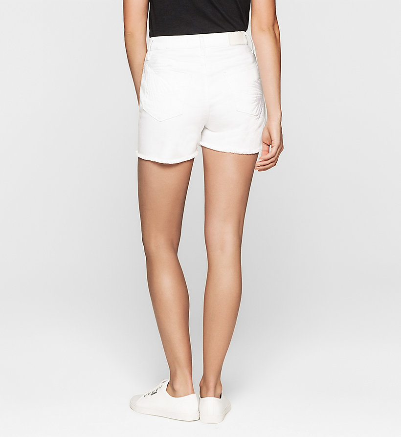 CKJEANS High Rise Embroidered Denim Shorts - WHITE PALM EMBRO - CK JEANS SHORTS - detail image 1