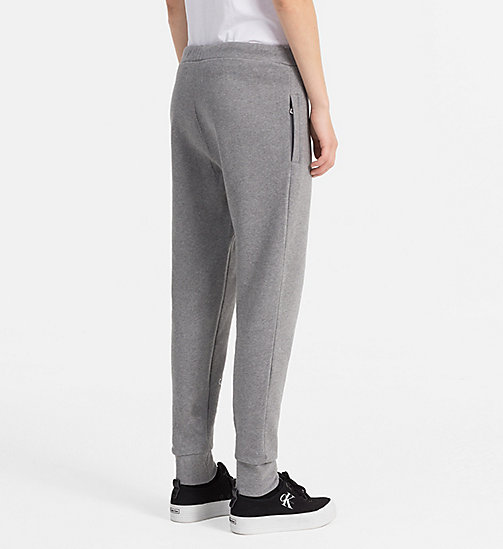 CALVIN KLEIN JEANS Logo Sweatpants - LIGHT GREY HEATHER - CALVIN KLEIN JEANS TROUSERS - detail image 1