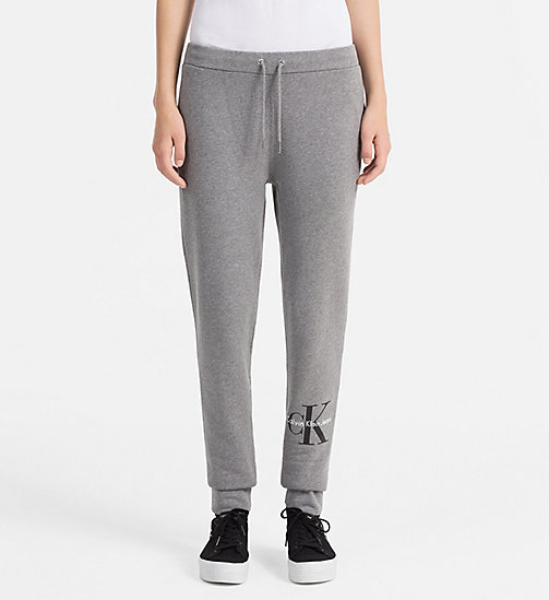 CALVIN KLEIN JEANS Logo Sweatpants - LIGHT GREY HEATHER - CALVIN KLEIN JEANS TROUSERS - main image
