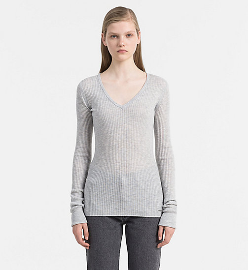 CALVIN KLEIN JEANS Wolmix trui - LIGHT GREY HEATHER - CALVIN KLEIN JEANS TRUIEN - main image