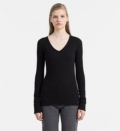 CALVIN KLEIN JEANS Wool Blend Sweater - CK BLACK - CALVIN KLEIN JEANS JUMPERS - main image