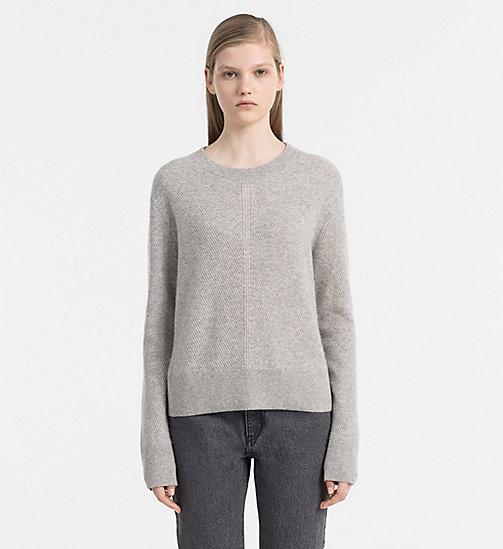 Kaschmir-Sweater - LIGHT GREY HEATHER - CALVIN KLEIN JEANS PULLOVER - main image