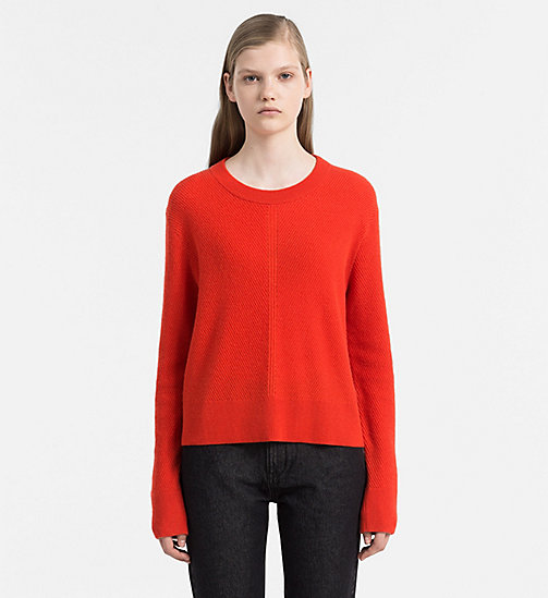 CALVIN KLEIN JEANS Cashmere Sweater - FLAME SCARLET - CALVIN KLEIN JEANS JUMPERS - main image