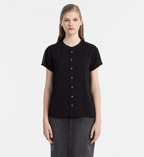 Short-Sleeve Shirt - CK BLACK / PEACOAT - CALVIN KLEIN JEANS SHIRTS - main image