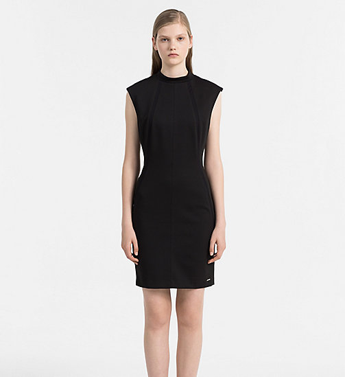 CALVIN KLEIN JEANS Fitted Jersey Dress - CK BLACK - CALVIN KLEIN JEANS DRESSES - main image