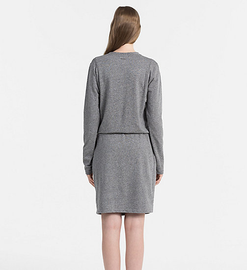 CALVIN KLEIN JEANS Meliertes Jersey-Kleid - LIGHT GREY HEATHER - CALVIN KLEIN JEANS KLEIDER - main image 1