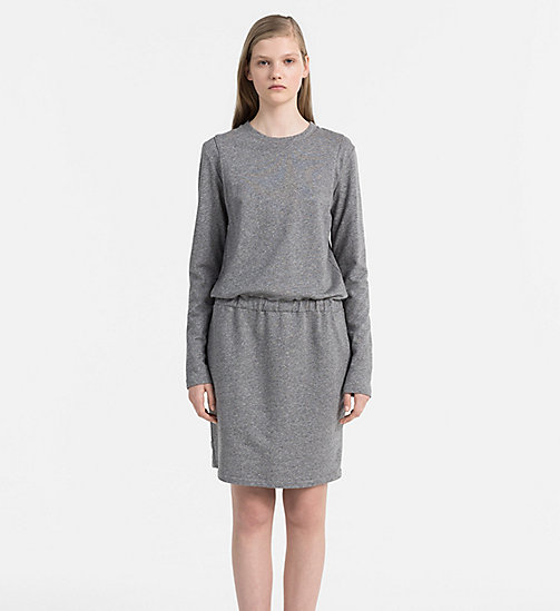 CALVIN KLEIN JEANS Meliertes Jersey-Kleid - LIGHT GREY HEATHER - CALVIN KLEIN JEANS KLEIDER - main image