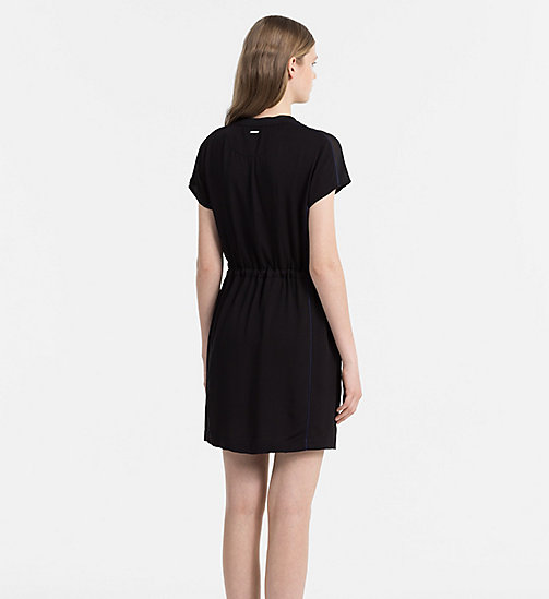 CALVIN KLEIN JEANS Sporty Twill Dress - CK BLACK / PEACOAT - CALVIN KLEIN JEANS DRESSES - detail image 1