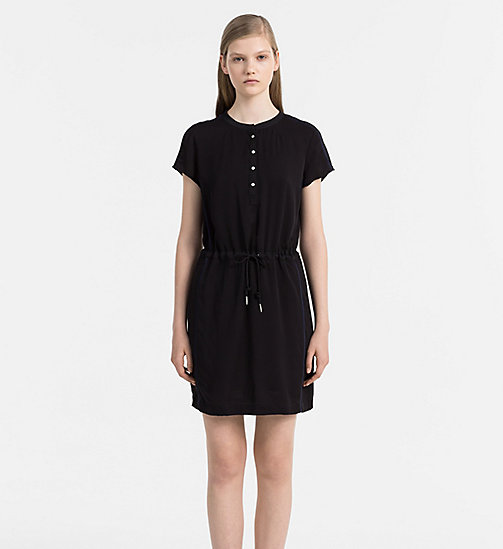 CALVIN KLEIN JEANS Sporty Twill Dress - CK BLACK / PEACOAT - CALVIN KLEIN JEANS DRESSES - main image