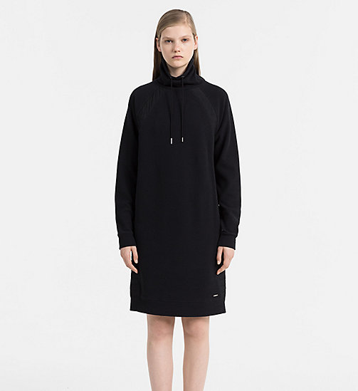 CALVIN KLEIN JEANS Funnel Neck Sweater Dress - CK BLACK - CALVIN KLEIN JEANS DRESSES - main image