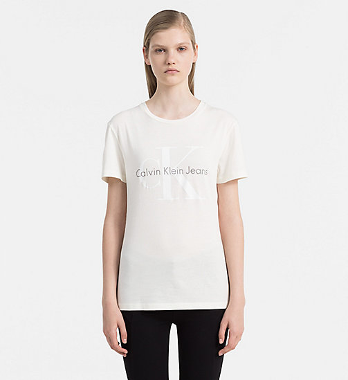 CALVIN KLEIN JEANS Logo T-shirt - EGRET - CALVIN KLEIN JEANS GIFTS FOR HER - main image