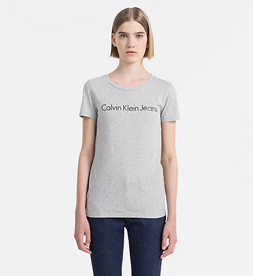 CALVIN KLEIN JEANS Logo T-shirt - LIGHT GREY HEATHER - CALVIN KLEIN JEANS CLOTHES - main image