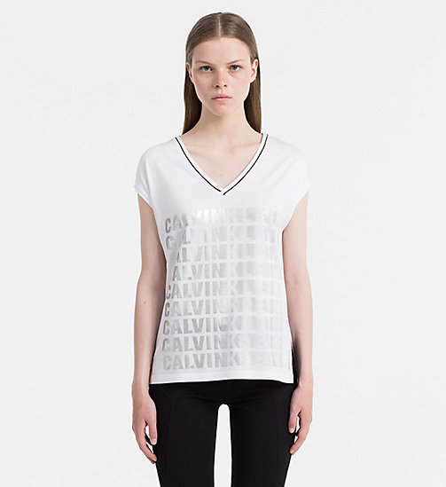 Metallic Logo T-shirt - BRIGHT WHITE - CALVIN KLEIN JEANS T-SHIRTS - main image