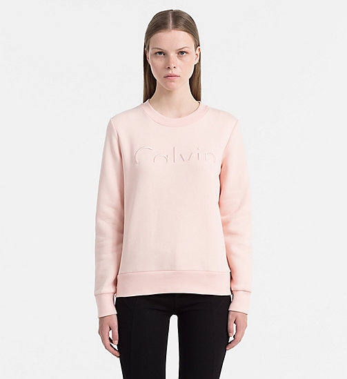 CALVIN KLEIN JEANS Logo Sweatshirt - PEACHY KEEN - CALVIN KLEIN JEANS GIFTS FOR HER - main image