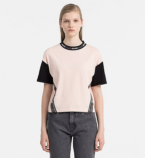 Sporty Cropped Top - PEACHY KEEN / CK BLACK - CALVIN KLEIN JEANS  - main image