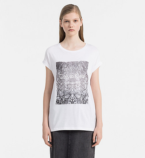 Bedrucktes T-Shirt - BRIGHT WHITE - CALVIN KLEIN JEANS T-SHIRTS - main image