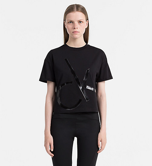 CALVIN KLEIN JEANS Cropped Logo T-shirt - CK BLACK - CALVIN KLEIN JEANS COLD COMFORTS - main image