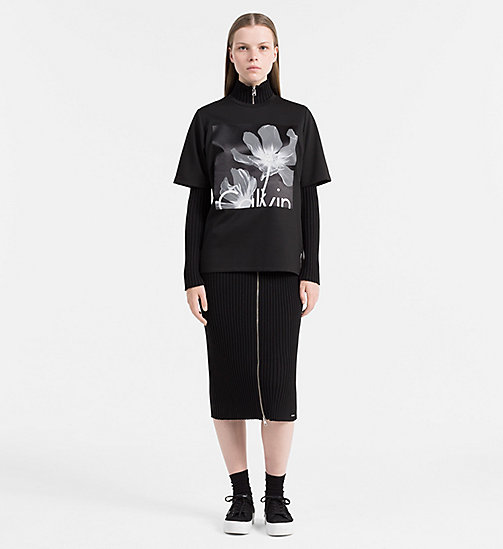 CALVIN KLEIN JEANS Printed T-shirt - CK BLACK - CALVIN KLEIN JEANS COLD COMFORTS - detail image 1