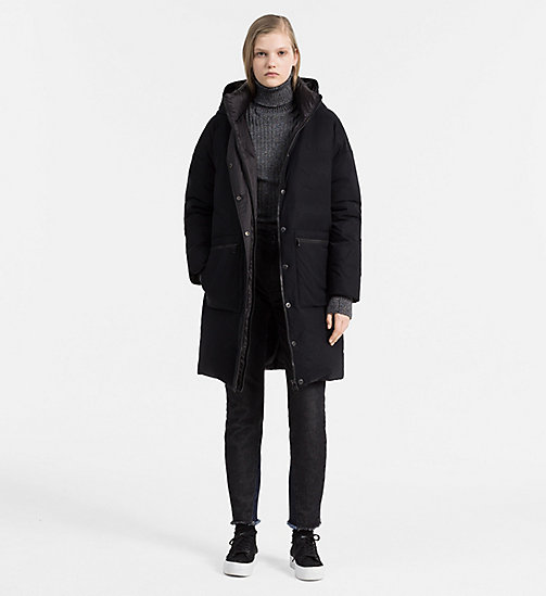 CALVIN KLEIN JEANS Hooded Down Coat - CK BLACK - CALVIN KLEIN JEANS COATS - detail image 1