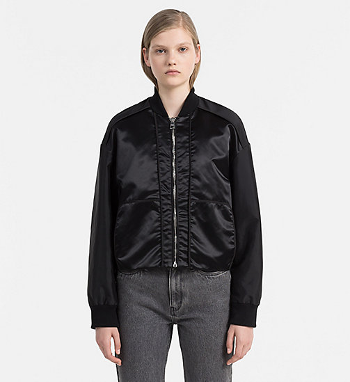 Sateen Bomber Jacket - CK BLACK - CALVIN KLEIN JEANS OUTERWEAR - main image