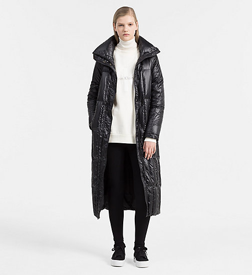 Quilted Down Coat - CK BLACK - CALVIN KLEIN JEANS OUTERWEAR - detail image 1